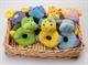 Детские товары Киев. Детские игрушки.Погремушки-шелестелки. LINDO 8 видов зверей-погремушек в корзине (супервелюр)
