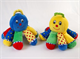 Детские товары Киев. Детские игрушки.Мягкие игрушки. LINDO Осьминог с погремушкой